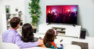 طبيعة النسبة وعلاقتها بحجم التلفزيون