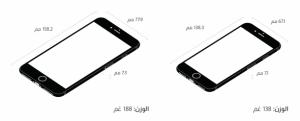 حجم شاشة ايفون 7 بلس